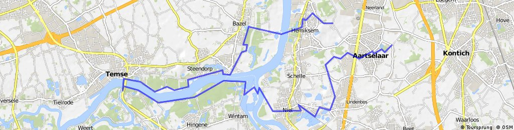 schelde rupel route