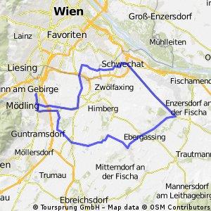 Flache Erholungsrunde Maria Enzersdorf - Schwandorf - Schwechst