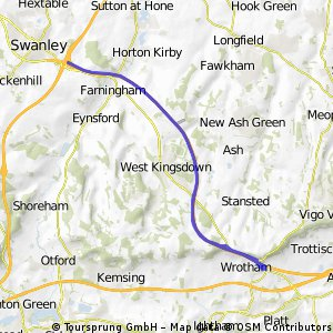west kings down route