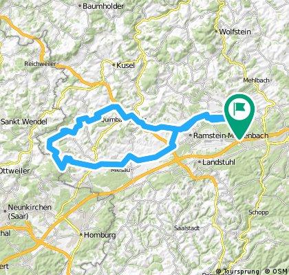 Tour Frohnhofen an die Grenze des Saarlandes