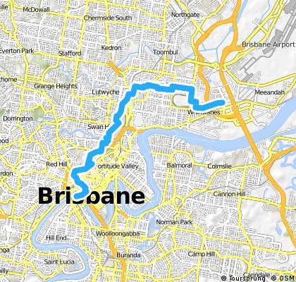 Mark's route from Schneider to South Brisbane