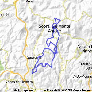 Cycling Routes And Bike Maps In And Around Sobral De Monte Agraço - Sobral map