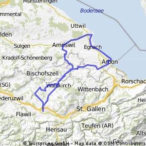 Mutwil, Waldkirch, Amriswil, Romanshorn, Arbon,  Waldkirch, Gossau