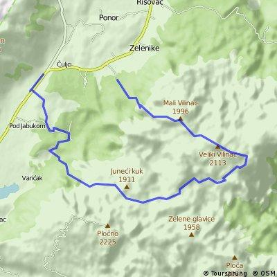 Čvrsnica treking Čvrsnica (24 km)