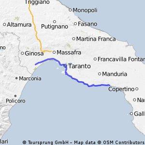 route Süditalien