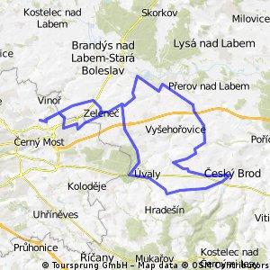 Satalice - Úvaly - Č.Brod - Tuklaty - Toušeň - Satalice