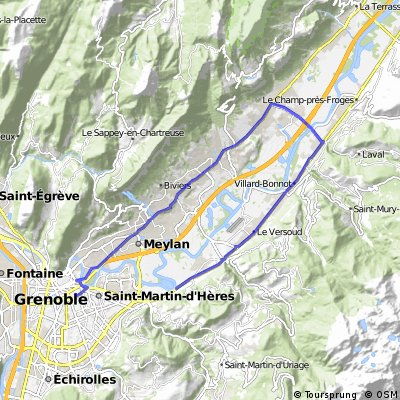 Boucle Grenoble - Crolles