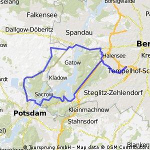 Rund um den Wannsee via Seeburg (kurz)
