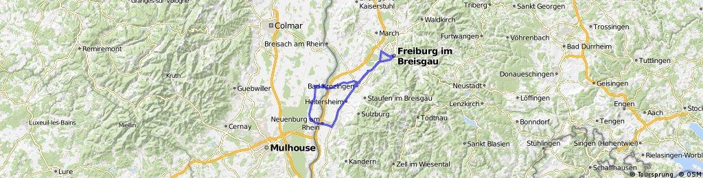 blodelsheim -> freiburg via mulheim