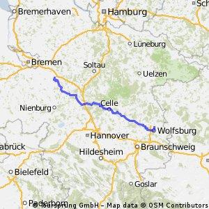 Verden-Wolfsburg (Aller-Radweg)