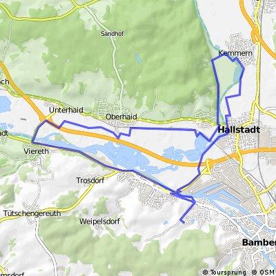 Viereth-Unterheid-Oberheid-Dörfleins-Kemmern-Hallstadt-Gaustadt