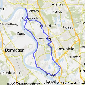 Little Rhine Route: Benrath, Rheindorf and back