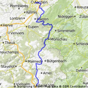 Vennbahn Aachen-St Vith/Belgien