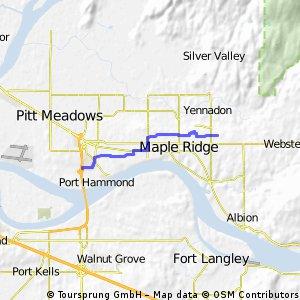 Ridge back roads route