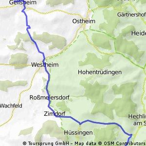 Geilsheim - Hahnenkammsee