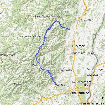 Vogesen Tour 10: Ribeauville - Cernay