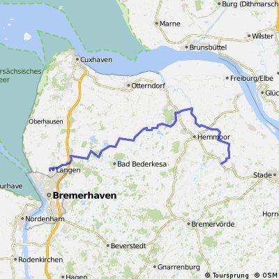Langen-Wingst-Burweg 76 km