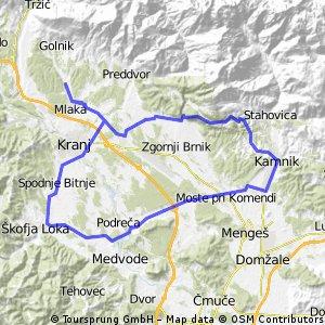 Tenetise - Senturska -- Kamnik - Skofja Loka -Tenetise