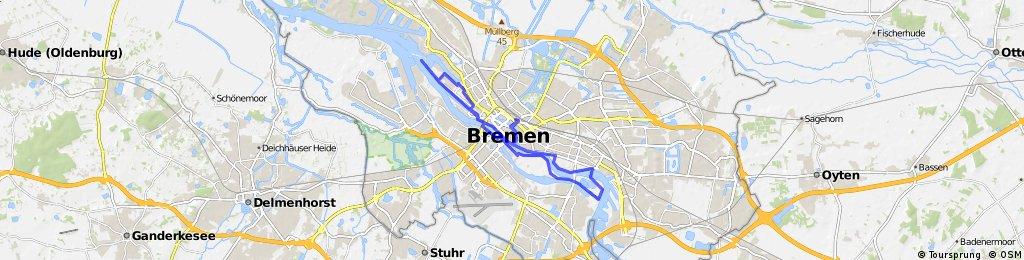 Bremen Bike It: Die Weserrunde