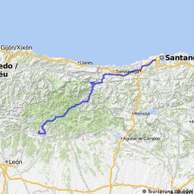14ª Eta Santander , Alto de la Camperona 200 km