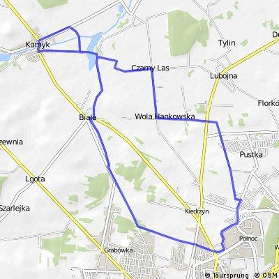 Częstochowa - Folwark Kamyk - Częstochowa 26,2 km