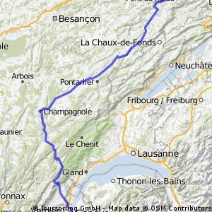 7. Etappe - Vaufrey - Genf