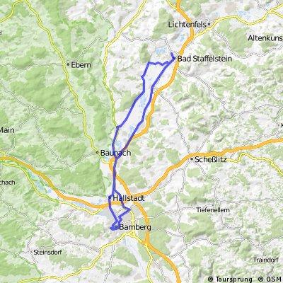 Bad Staffelstein Bamberg und zurück