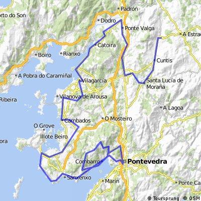 18ª Rep  La Astrada , monte Castrove 157,2 km Repasada