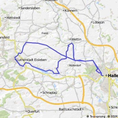 Halle - Fienstedt - Süßer See - Eisleben - Halle