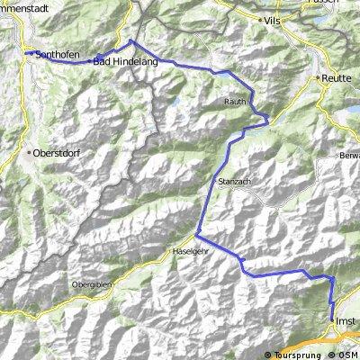 Alpen 1.Etappe Sonthofen-Imst