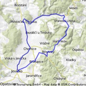 Jevíčko - Vr. Lhota - Hartinkov - Jevíčko