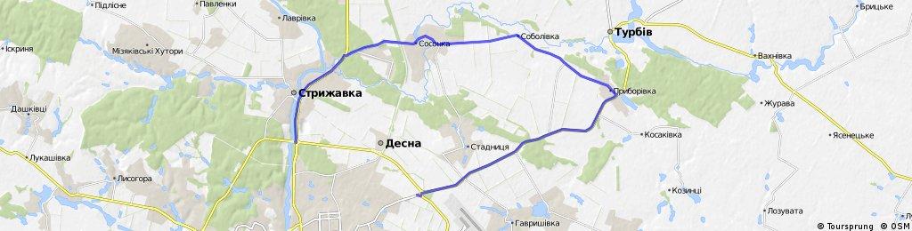 Винница - Приборовка - Соболивка - Соснка - Стрижавка -Винница