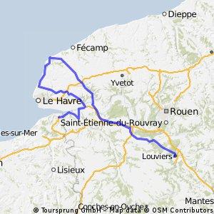 Honfleur - Louviers 190 km