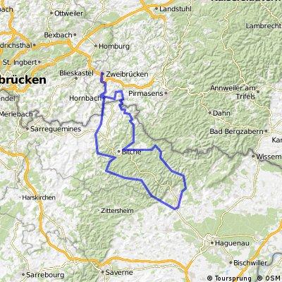 Durchs krumme Elsaß - RTF des RSC Zweibrücken 88 e.V. - 151 km Strecke