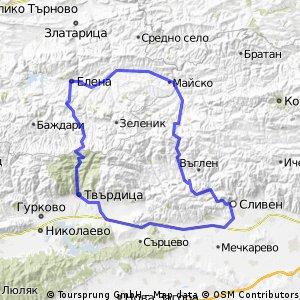 Сливен - Бяла - Елена - Твърдица - Сливен