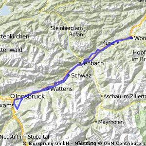 Innsbruck über Römerstraße retour