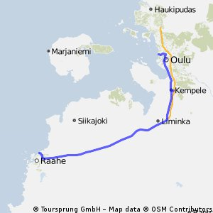 Cycling routes and bike maps in and around Raahe Bikemap Your