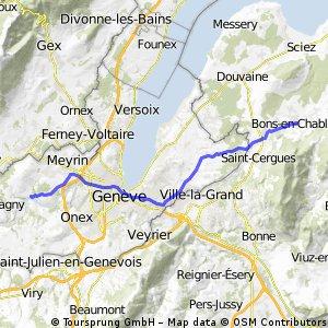 Peney to Bons-en-Chablais