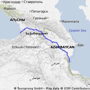 Batumi to Astara