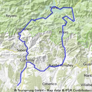 Cistierna-Santibañez-Riaño- Prioro-puenta almuhey