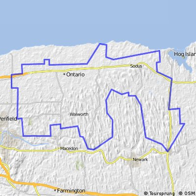 Potential Tour de Cure 100 Mile Route - Webster