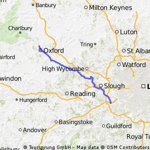 Chertsey to Oxford