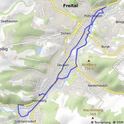 Touristischer Radweg Freital