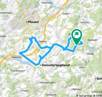 Bergen - Taltitz - Oelsnitz - Bergen