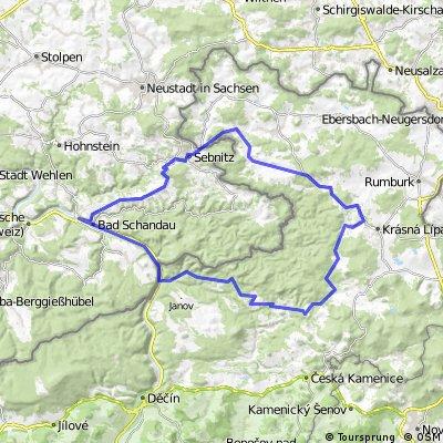 Sternetour Sächsisch-Böhmische Schweiz Rennrad