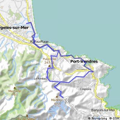 Beklimming Madeloc en afdaling naar Port Vendres