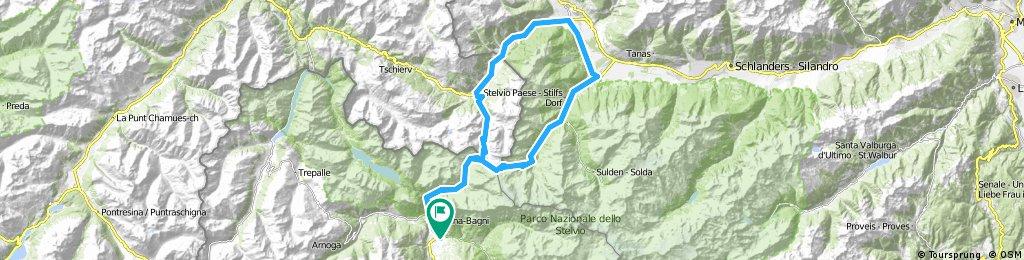 TOUR n° 1: BORMIO-umbrail pass-S.Maria-Pratro Stelvio-stelvio pass-BORMIO