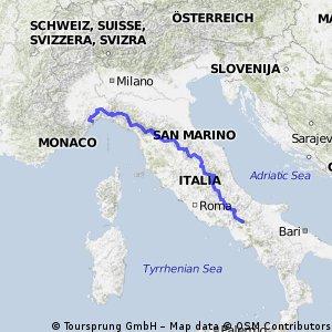 L´Appenino: Savona_Lago di Matese (Campania)
