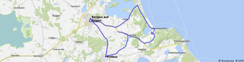 Radstrecke IRONMAN 70.3 Ruegen