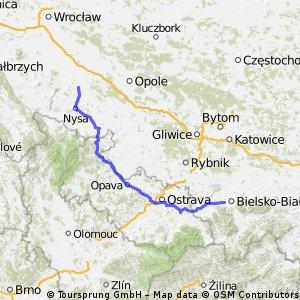 Chróścina - Wapienica (przez Czechy)